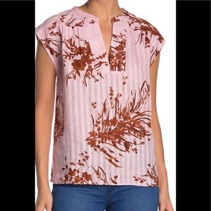 Joie Narumi 100% linen pink floral Sz#S NWT